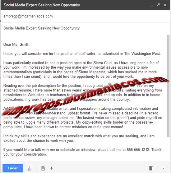 Candidatura Por Email